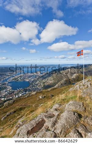Hiking tour on the Ulriken, Bergen, Norway
