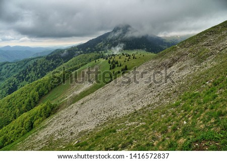 hiking trail along the mountains in Slovakia, Velka Fatra Zdjęcia stock ©