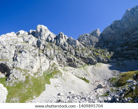Hiking trail in National Park Durmitor, Montenegro. #1409895704