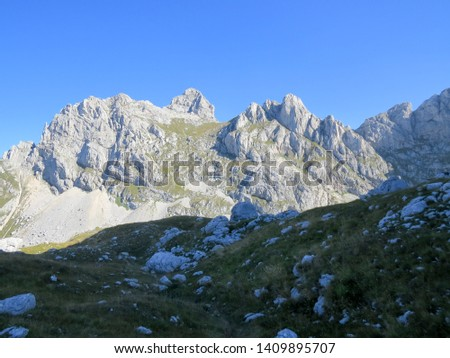 Hiking trail in National Park Durmitor, Montenegro. #1409895707