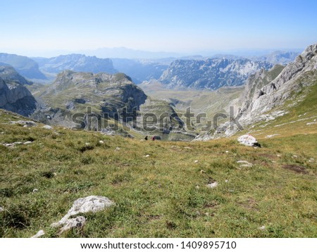 Hiking trail in National Park Durmitor, Montenegro. #1409895710