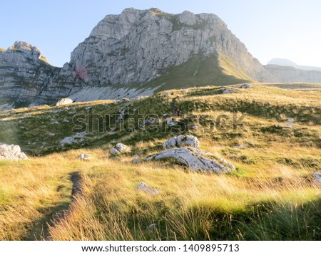 Hiking trail in National Park Durmitor, Montenegro. #1409895713