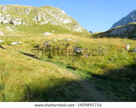 Hiking trail in National Park Durmitor, Montenegro. #1409895716