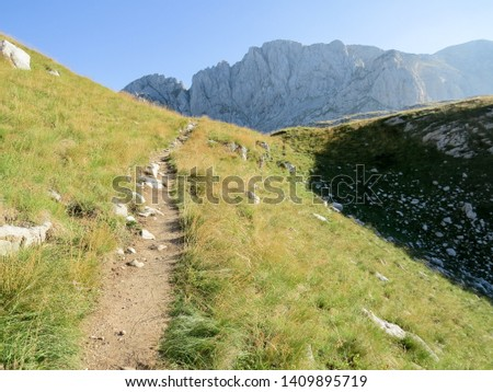 Hiking trail in National Park Durmitor, Montenegro. #1409895719