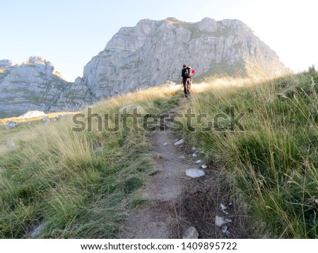 Hiking trail in National Park Durmitor, Montenegro. #1409895722