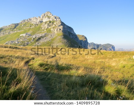 Hiking trail in National Park Durmitor, Montenegro. #1409895728
