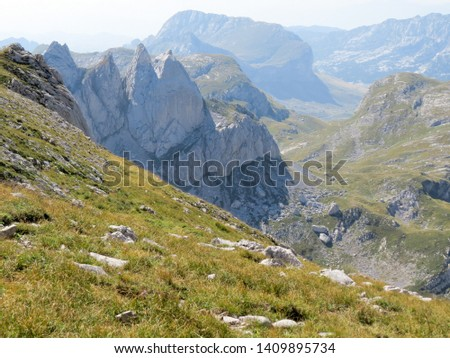 Hiking trail in National Park Durmitor, Montenegro. #1409895734