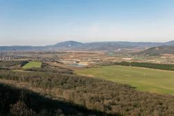 Hiking trail in the Buda Hills  (Harmashatarhegy) near the city of Budapest, Hungary.