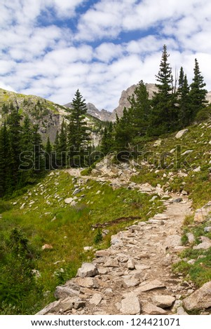 Hiking trail in the Colorado Mountains