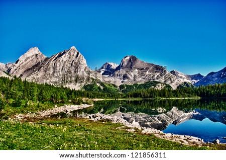 Hiking views Kananaskis Lakes area Peter Lougheed Provincial Park - Lawson Lake