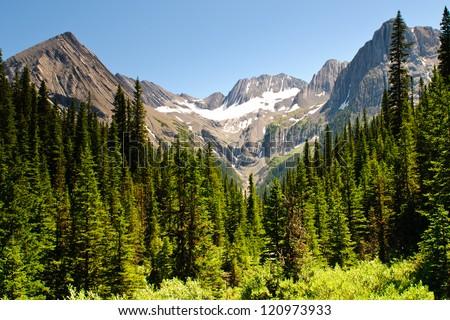 Hiking views Kananaskis Lakes area Peter Lougheed Provincial Park - Turbine Canyon