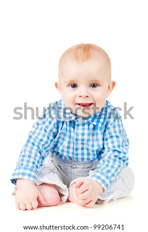 hilarious baby is sitting