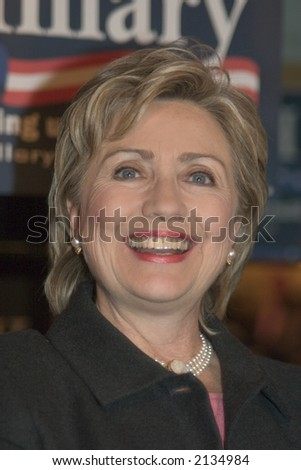 Hillary Rodham Clinton, New York Senator, wife of President Bill Clinto, Presidential Candidate