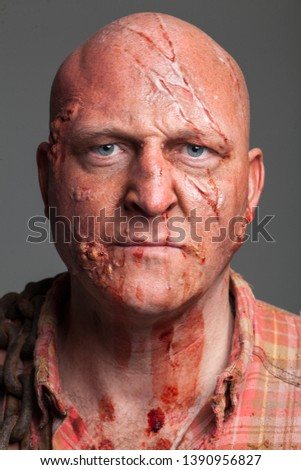 Hillbilly Slasher / Horror Villain, Bald Caucasian Male #1390956827