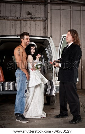 Hillbilly wedding (Shirtless guy and preacher)