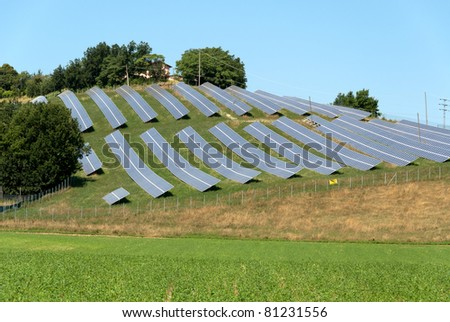 hills covered with solar panels