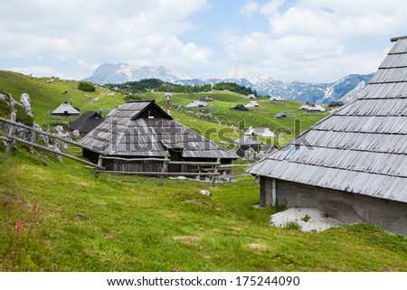 Hills on Velika Planina, Slovenia, summer time