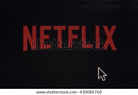 HILVERSUM, NETHERLANDS - JUNE 01, 2016: Netflix, Inc. is an American provider of on-demand Internet streaming media available founded in 1997 by Marc Randolph and Reed Hastings