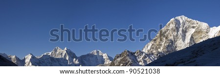 himalaya mountain range sagarmatha np nepal