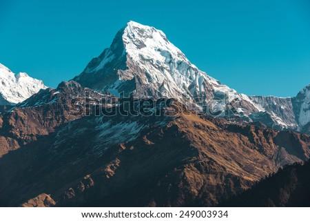 himalaya mountains  nepal.