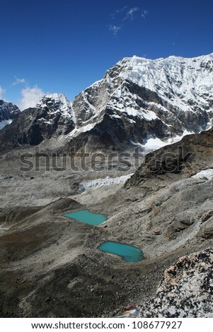 Himalayan mountain landscape, Nepal, Everest Region