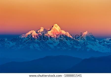 Himalayan Mountains View from Mt. Shivapuri, Shivapuri Nagarjun National Park #188881541