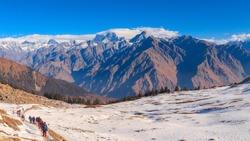 Himalayas as seen during the Kuari Pass Trek, India.
