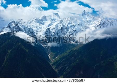 Himalayas - Kinnaur Kailash range. Kalpa, Himachal Pradesh, India