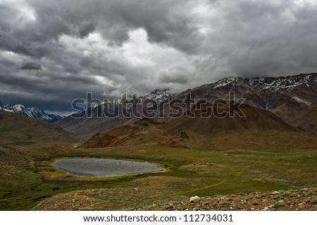 himalayas lake in summer time