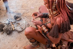 Himba ethnic group namibia africa