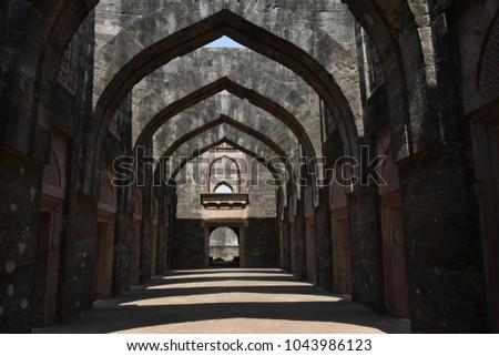 Hindola Mahal, Mandu, Madhya Pradesh, India #1043986123