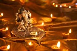 Hindu God Ganesh at Diwali Festival