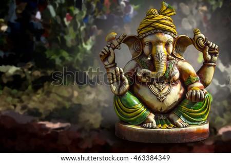 Hindu God Ganesha. Ganesha Idol.