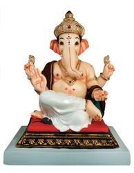 Hindu God Ganesha. Ganesha Idol on white background, Indian Festival