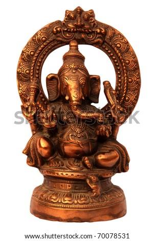 Hindu God Ganesha Handmade Metal Sculpture