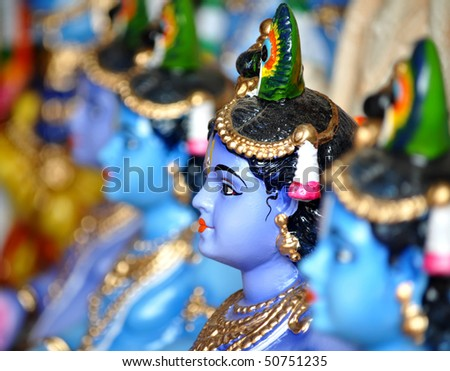 god images krishna. stock photo : Hindu God lord Krishna statue India