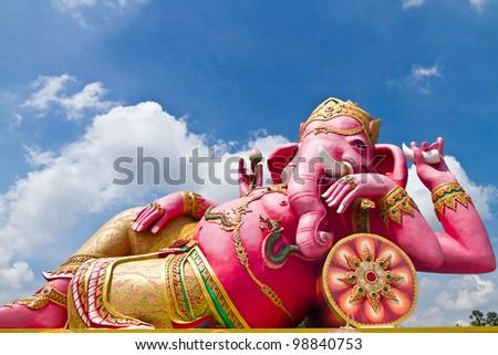 Hindu God Named Kasipa Porasada Ganapati at temple in thailand