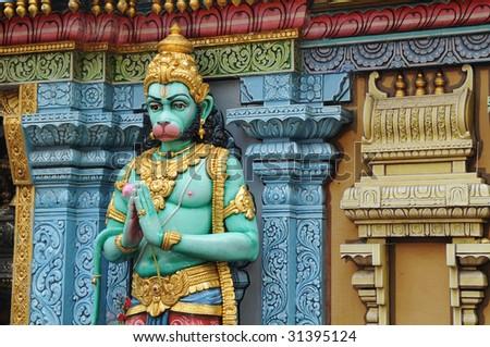 Hindu God Outside A Hindu Temple