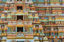 Hindu God Statue in Sri Ranganathaswamy Temple. Tiruchirappalli (Trichy), Tamil Nadu, India
