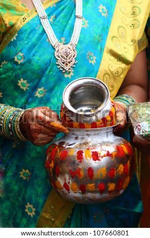 Hindu Indian puja rituals