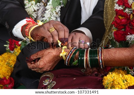 Hindu Indian wedding ceremony