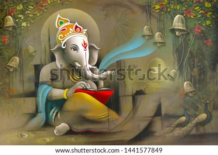 Hindu Lord Ganesha texture wallpaper  background