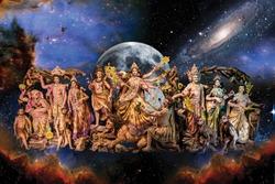 Hindu Mythological Goddess Durga amazing image for living room. print this image and hang on wall