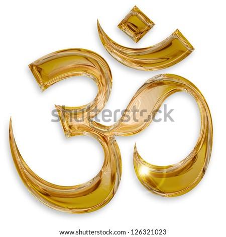 hindu om icon isolated on white background