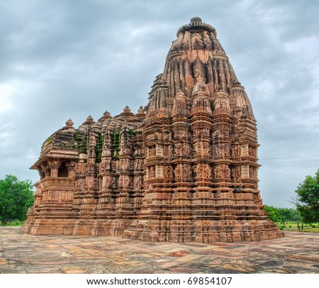 Hindu temple in Khajuraho, Madhya Pradesh, India