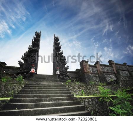 Hindu temple Pura Agung. Bali. Indonesia