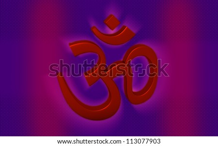 Hinduism symbol isolated on color background .ohm
