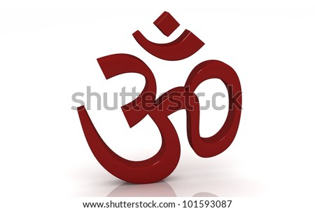 Hinduism symbol isolated on white background .ohm