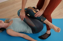 Hip flexor stretching, Physiotherapy treatment low back pain