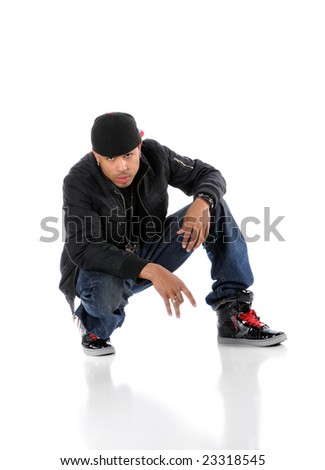 Hip-hop African American man looking into the camera